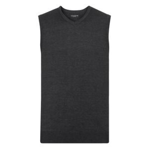 Russell Collection Sleeveless Cotton Acrylic V Neck Sweater Thumbnail